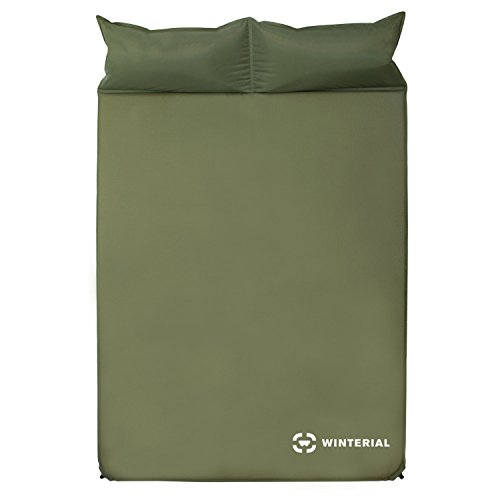 - Winterial Double Self Inflating Sleeping Pad With Pillows, Camping, Backpacking, Travel, 2 person