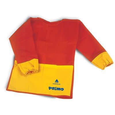 PRIMO Malschürze Bastelschürze Kinder Anti-Flecken Antifarbtupfer Schürze Basteln Rot 219