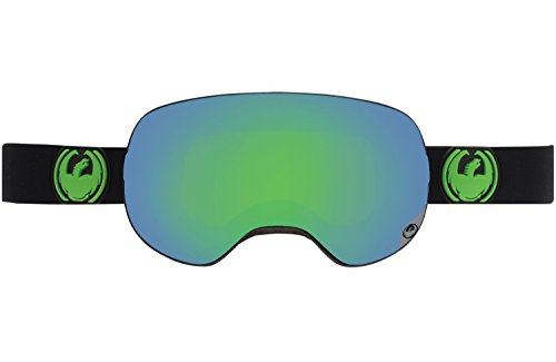 Dragon Alliance X2 Ski Goggles, Jet-Green - X1 Dragon