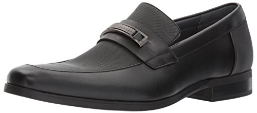 - Calvin Klein Men's Jameson Soft Leather/City Emboss Slip-On Loafer, Black, 8.5 M US