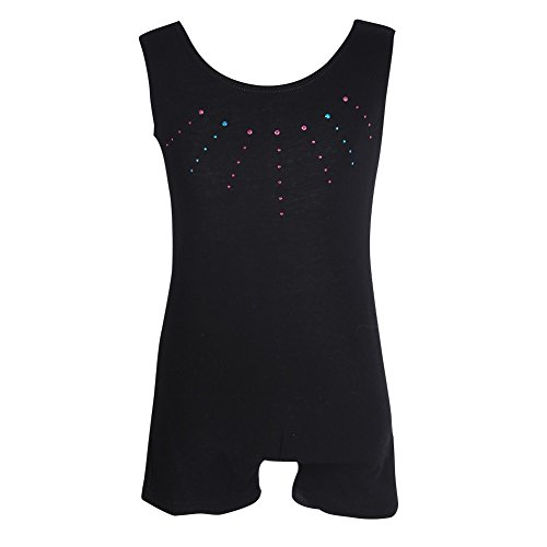 Jlong Girls Sleeveless Dancing Gymnastics Bodysuit One Piece Ballet Dance Leotards