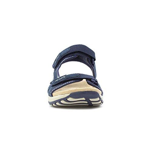 Earth Spirit Womens Navy Leather Sporty Sandal Blue 9gumM