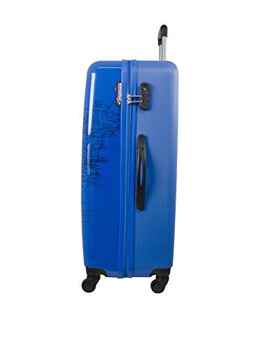 AMERICAN 11998 Square TRAVEL Sac pour bleu PRINT à femme BD main bleu Times AfA6qWnr