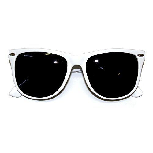My First Sunglasses. Matching Adult's 100% UV Protection, and Cool Wayfarer Style Sunglasses for Moms and Dads Too! (White - Frames Guide Glasses Face