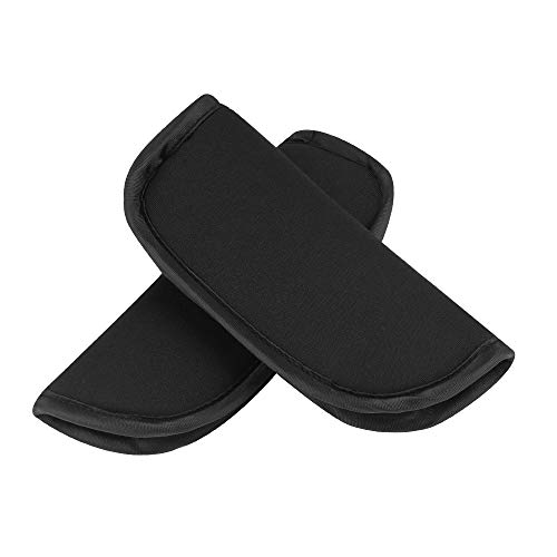 Accmor Baby Car Seat Strap Covers, Car Seat Strap Pads, Baby Seat Belt Covers, Stroller Belt Covers, Baby Head Support, Baby Shoulder Pads (Black) Soft Warm