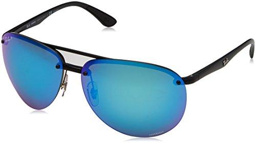 Ray-Ban Men's 0rb4293ch601/a164plastic Man Polarized Iridium Aviator Sunglasses, Black, 65 - Sunglasses Aviator Ray Rimless Ban