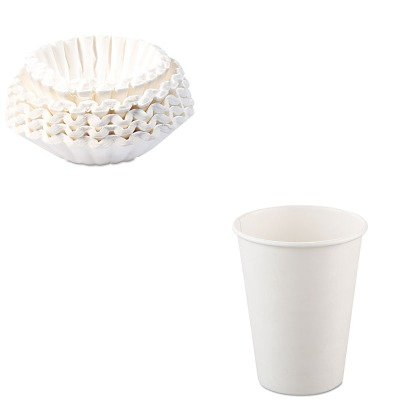 KITBUN1M5002SLO412WN - Value Kit - Solo Single-Sided Poly Paper Hot Cups (SLO412WN) and Bunn Coffee Commercial Coffee Filters (BUN1M5002) by Solo