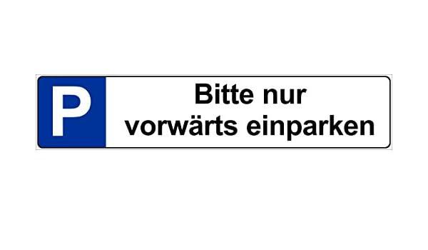 Cartel por favor solo Adelante aparcar - Coche Matrícula ...