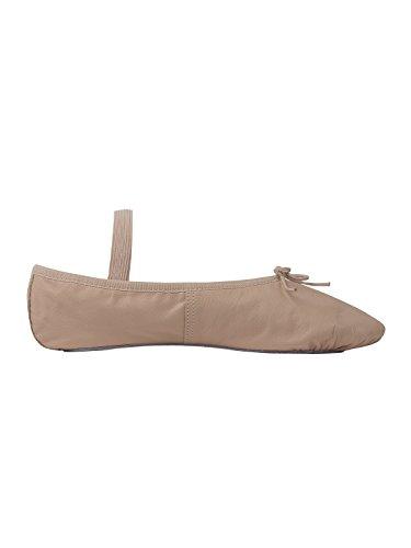 Ballettschläppchen Leder, Weite N (vorrätig bis Gr. 3,5)
