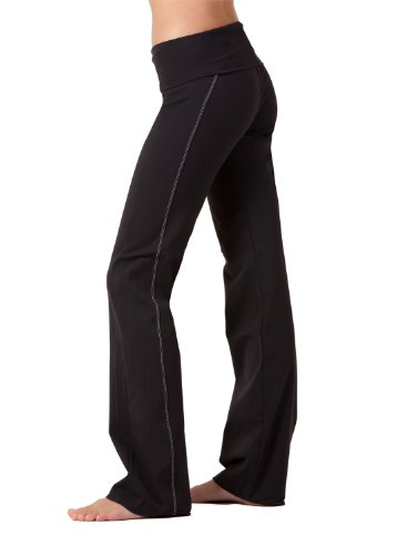 Top-stitched Yoga Pants by Fit Couture, M-31'', Black by Fit Couture (Image #3)