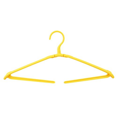 UNKE Plastic Fodable Clothes Hanger, Portable Folding Travel