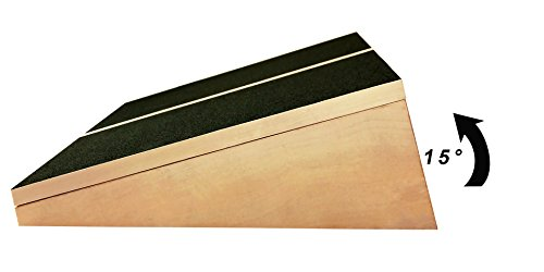 """Liberty Imports Professional Wooden Slant Board, Adjustable Incline Calf Stretch Slantboard with Full Non Slip Surface, 16"""" x 12.5"""", 5 Positions (350 LB Capacity)"""