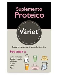PROTEÍNA DE ALMENDRA VARIET - 100% Almendra semidesgrasada - 375 g en polvo