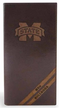 (NCAA Mississippi State Bulldogs Zep-Pro Pull-Up Leather Long Secretary Embossed Wallet,)