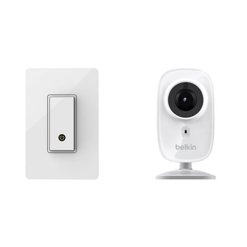Wemo Light Switch, Wi-Fi Enabled, Control Lights From Your Phone plus Belkin NetCam HD+ Wi-Fi enabled Camera Bundle by WeMo (Image #1)