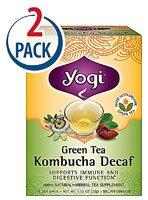 Yogi Herbal Green Tea Caffeine Free Kombucha -- 16 Tea Bags Each / Pack of 2 (Yogi Free Green Caffeine Tea)