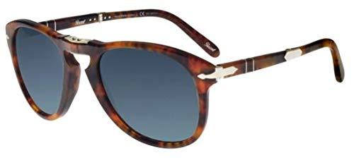 Persol PO0714SM Steve McQueen Sunglasses 108/S3 Cafe/Blue Gradient Dark Blue Polar Lens 54mm (Persol Steve Mcqueen 714 Sm Special Edition)
