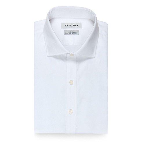 Twillory Non-Iron White Twil Tailored Fit 17 34-35 (Dress Non Cotton Iron Two Shirt Ply)