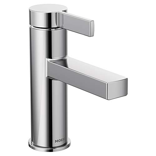 Moen 84774 Beric One-Handle Single Hole Bathroom Faucet, Chrome (Bathroom Faucet One)