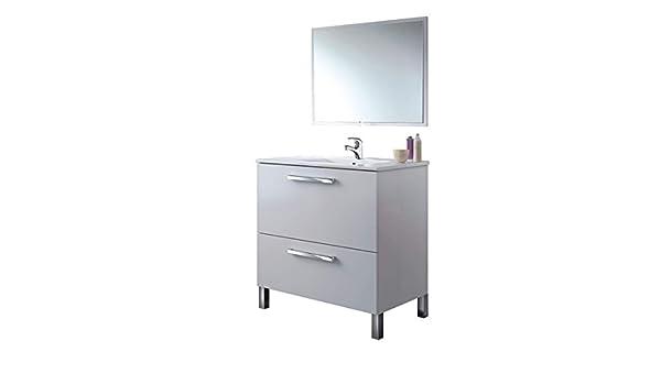 Mueble de Baño con Grifo + Espejo + Lavabo CERÁMICO, Mod Reynolds: Amazon.es: Hogar