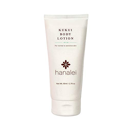 - Kukui Body Lotion by Hanalei Company, Moisturizer with Kukui Oil, Shea Butter, and Jojoba Oil (Cruelty-Free, Paraben-Free, Dye-Free) Made in USA (80 ml)
