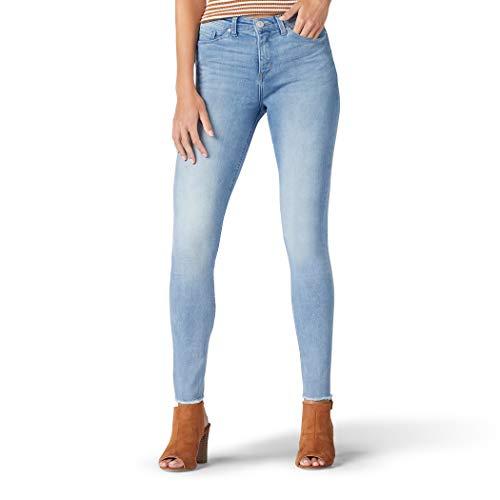 LEE Women's Sculpting Slim Fit Skinny Leg Jean, Matinee raw Hem 18 Short