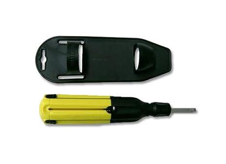 Destornillador 6 puntas retrattili (1 solo herramienta de acero de ...