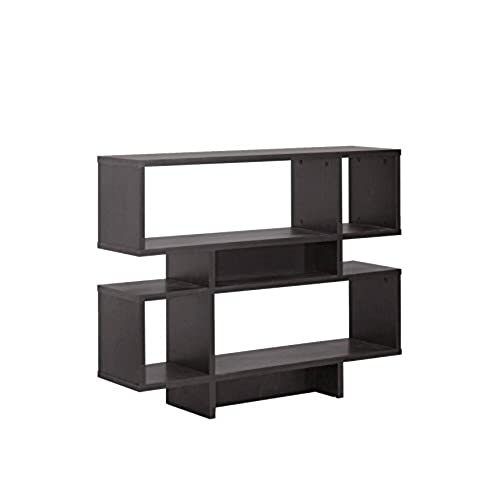 Baxton Studio Cassidy 4 Level Modern Bookshelf Dark Brown