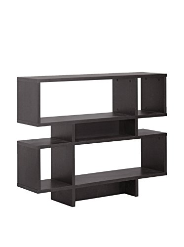 - Baxton Studio Cassidy 4-Level Modern Bookshelf, Dark Brown