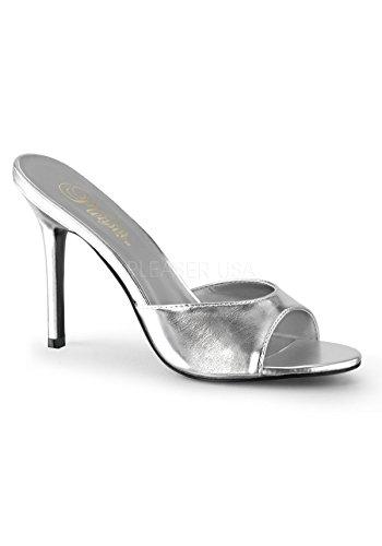 Ouvert Femme Pleaser Pu Metallic 01 Slv Bout Classique qFgwnA4gO