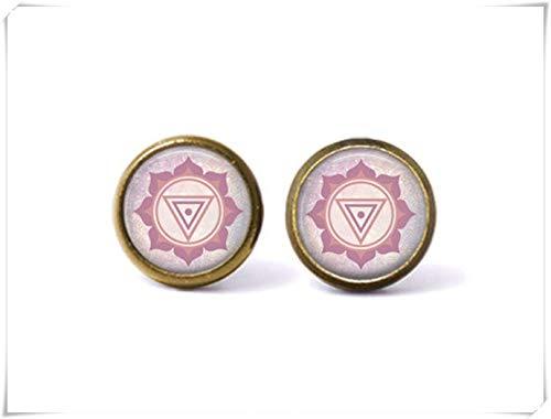 beautiful beautiful girl Mandala Earrings,Boho Jewelry,Goddess Earrings,Fine Jewelry, Dome Glass Jewelry, Pure ()