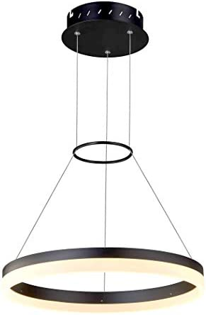 VONN VMC31630BL Tania 18 , AdjustableSuspension Fixture, Modern Circular Chandelier Lighting in Black Integrated LED, 17.75 L x 17.75 W x 120 11.81 H