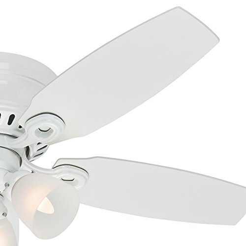 Hunter Fan 46'' Snow White Finish Ceiling Fan with Clear Frosted Glass Light Kit (Certified Refurbished) by Hunter Fan Company (Image #4)'