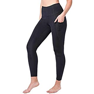 Yogalicious High Waist Ankle Length Pocket Tight (Medium, Black)