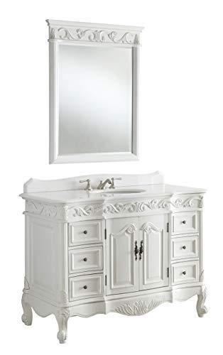 """42"""" Antique White Beckham Bathroom sink vanity Cabinet & Mirror SW-3882W-AW-42"""