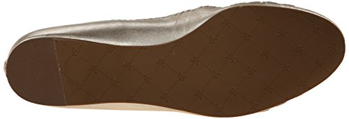 Jack Rogers Womens Waverly Balletto Platino Piatto