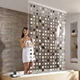 store de douche casa pura square imperm able 4 tailles antibact rien sans plastifiants. Black Bedroom Furniture Sets. Home Design Ideas