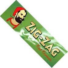 Zig Zag green cut corner standard size rolling papers 20 - Zag Green Zig