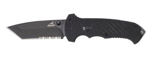 Gerber 30-000118 F.A.S.T. Technology Serrated Edge Clip Folding Knife, Outdoor Stuffs