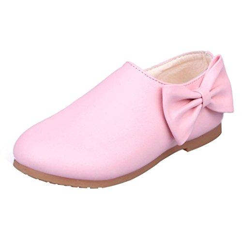 BZLine® Winter Kinder Bowknot Sneaker Stiefel Reißverschluss Prinzess Schuhe Pink