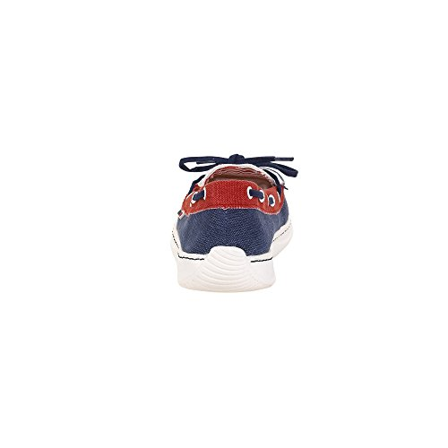 Dude Shoes Women's Moka Classic Navy Multi Blue & Multi Colour U6T8dJYM