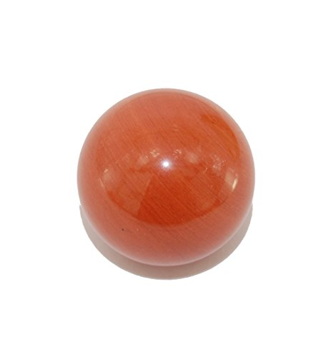 Gemstone Globe Pillar - Crystal Grotto Collection - Crystal Ball 18mm, Red Jasper, Natural Gemstone Round Sphere Desk Ornament