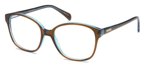 Womens Thin Large Cateye Prescription Eyeglasses Rxable 54-18-140-46 in Brown