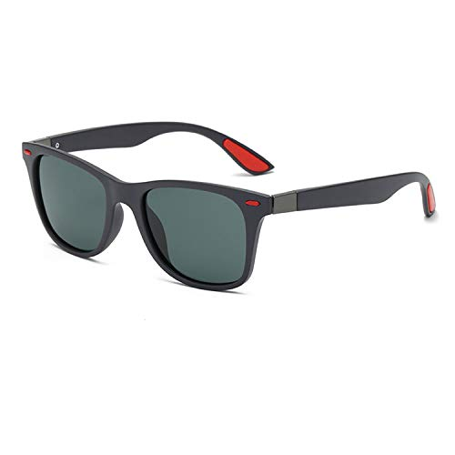 Polarized Sunglasses Men Women Vintage Driving Goggle Rivet Mirror Male Sun Glasses,C04 Black G15