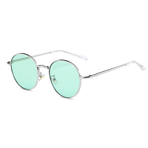 CYCTECH Women Trendy Sunglasses Vintage Retro Heart-shaped Shades Aviator Mirror Integrated UV Candy Colored Goggles Outdoor Driving Travel Glasses - Goggles Shaped Heart