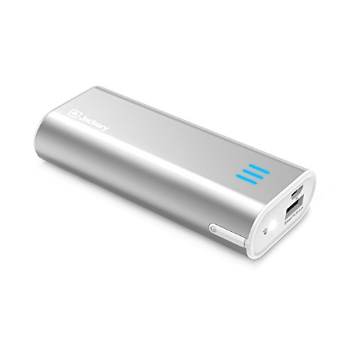 Jackery Bar Premium 6000 mAh External Battery Charger - Portable Charger and Power Bank with Panasonic Battery Cells and Aluminum Shell for iPhone 7, iPhone 7 Plus, iPad, Galaxy & Other Smart Devices (Sliver)