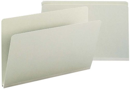 Smead Pressboard File Folder, Straight-Cut Tab, 1 Expansion, Legal Size, Gray/Green, 25 per Box (18200) by Smead