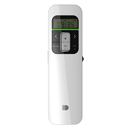 Wireless Presenter, Doosl® Rechargeable Wireless Presenter, die 2,4-GHz-Powerpoint-Präsentation Fernsteuerung mit LCD-Display-Weiß