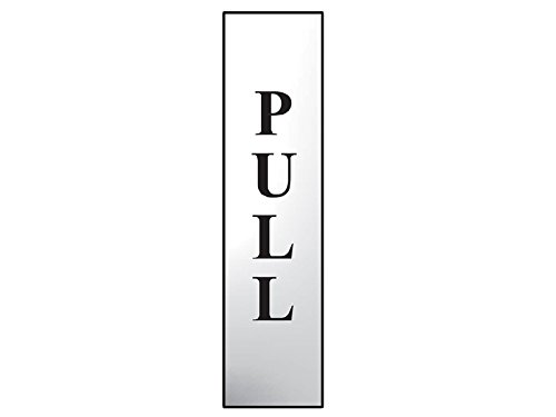 Scan 6034C Legend Pull Vertical Chrome Finish Safety Sign