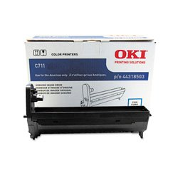 Oki Data 44318503 Image Drum for C711 Series Printers, 20000 Page Yield, Cyan